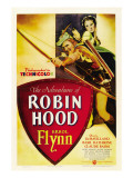 The Adventures of Robin Hood, Errol Flynn, Olivia De Havilland, 1938 Posters