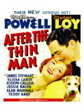 After the Thin Man, Myrna Loy, William Powell, Asta (Lower Right) on Window Card, 1936 Print