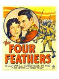 Four Feathers, Fay Wray, Richard Arlen on Window Card, 1929 Poster