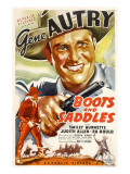 Boots and Saddles, Gene Autry, 1937 Poster