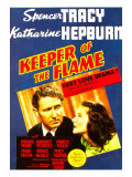 Keeper of the Flame, Spencer Tracy, Katharine Hepburn on Midget Window Card, 1942 Prints