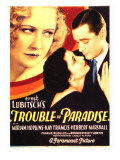 Trouble in Paradise, Miriam Hopkins, Kay Francis, Herbert Marshall on Midget Window Card, 1932 Photo