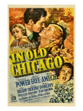 In Old Chicago, Alice Brady, Tyrone Power, Alice Faye, Don Ameche, 1937 Photo