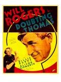 Doubting Thomas, Billie Burke, Will Rogers on Trimmed Window Card, 1935 Psters