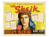 The Sheik, (Re-Issue 1938 Half-Sheet Poster), Rudolph Valentino, 1921 Posters