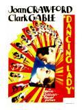 Dancing Lady, Clark Gable, Joan Crawford on Midget Window Card, 1933 Psters