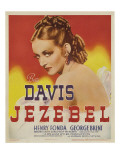 Jezebel, Bette Davis on Window Card, 1938 Print