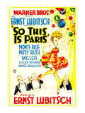 So This Is Paris, Poster Art, 1926 Poster