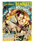 What Price Hollywood, Neil Hamilton, Constance Bennett on Window Card, 1932 Photo