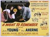 A Night to Remember, Loretta Young, Brian Aherne, 1942 Poster