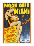 Moon over Miami, Betty Grable on Window Card, 1941 Posters