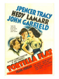 Tortilla Flat, Spencer Tracy, John Garfield, Hedy Lamarr, 1942 Poster