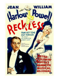 Reckless, William Powell, Jean Harlow, 1935 Print