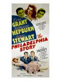 The Philadelphia Story, Cary Grant, Katharine Hepburn, James Stewart, 1940 Print
