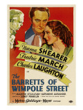 The Barretts of Wimpole Street, Charles Laughton, Fredric March, Norma Shearer, 1934 Poster Art Print