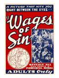 The Wages of Sin, 1938 Posters
