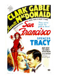 San Francisco, Jeanette Macdonald, Clark Gable, 1936 Affiches