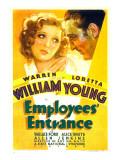 Employees' Entrance, Loretta Young, Warren William, 1933 Posters