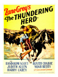 The Thundering Herd, Judith Allen, Randolph Scott on Midget Window Card, 1933 Posters