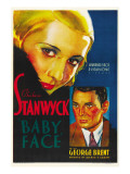Baby Face, Barbara Stanwyck, George Brent, 1933 Prints