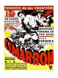Cimarron, Richard Dix, Irene Dunne on Window Card, 1931 Posters