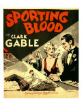 Sporting Blood, Madge Evans, Clark Gable on Window Card, 1931 Photo
