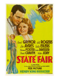 State Fair, Lew Ayres, Janet Ayres, Will Rogers, 1933 Affiches