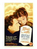 Man's Castle, Spencer Tracy, Loretta Young on Midget Window Card, 1933 Prints