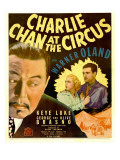 Charlie Chan at the Circus, Warner Oland, Shirley Deane, John Mcguire on Window Card, 1936 Posters