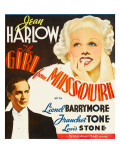Girl from Missouri, Franchot Tone, Jean Harlow on Window Card, 1934 Photo