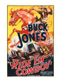 Ride 'Em Cowboy, Buck Jones, 1936 Poster