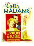 Enter Madame, Elissa Landi, Cary Grant on Window Card, 1935 Print