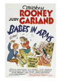 Babes in Arms, Mickey Rooney, Judy Garland, 1939 Prints