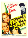 Internes Can'T Take Money, Barbara Stanwyck, Joel Mccrea, 1937 Poster