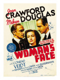 A Woman's Face, Conrad Veidt, Joan Crawford, Melvyn Douglas on Midget Window Card, 1941 Poster