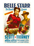 Belle Starr, Gene Tierney, Randolph Scott, 1941 Print
