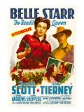 Belle Starr, Gene Tierney, Randolph Scott, 1941 Posters