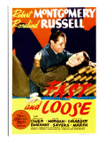 Fast and Loose, Robert Montgomery, Rosalind Russell on Midget Window Card, 1930 Prints