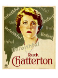 Unfaithful, Ruth Chatterton on Window Card, 1931 Photo