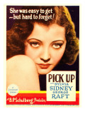 Pick-Up, Sylvia Sidney on Midget Window Card, 1933 Print