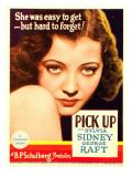 Pick-Up, Sylvia Sidney on Midget Window Card, 1933 Print