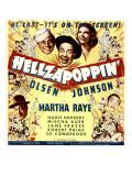 Hellzapoppin', Ole Olsen, Chic Johnson, Martha Raye, Hugh Herbert, Mischa Auer on Window Card, 1941 Photo