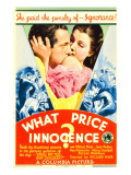 What Price Innocence (Aka Shall the Children Pay), Midget Window Card, 1933 Posters