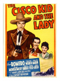 The Cisco Kid and the Lady, Cesar Romero, Marjorie Weaver on Midget Window Card, 1939 Photo