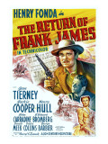 The Return of Frank James, Henry Fonda, 1940 Poster