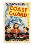 Coast Guard, Randolph Scott, Frances Dee, Ralph Bellamy on Midget Window Card, 1939 Photo