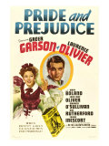 Pride and Prejudice, Greer Garson, Laurence Olivier, 1940 Poster