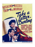 Take a Letter, Darling, Fred Macmurray, Rosalind Russell on Window Card, 1942 Photo