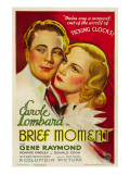 Brief Moment, Gene Raymond, Carole Lombard, 1933 Print