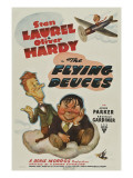 The Flying Deuces, Stan Laurel, Oliver Hardy, 1939 Poster